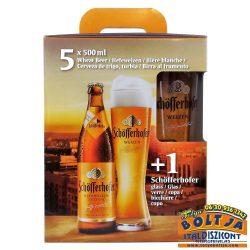 Schöfferhofer Weizen Német Világos Búzasör Pack 5x500ml + Pohár