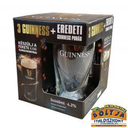 Guinness Fekete Sör 3x0,44l PDD+pohár