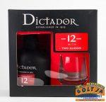 Dictador 12 éves Rum 0,7l 40% PPD+2pohár