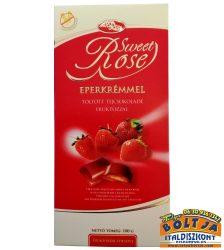 Sweet Rose Eperkrémmel Töltött Diabetikus Tejcsokoládé 100g