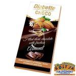 Diabette Choco Mandula ízű krémmel töltött étcsokoládé fruktózzal 80g