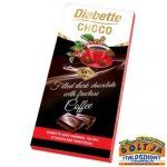 Diabette Kávés krémmel töltött tejcsokoládé édesítőszerrel 80g