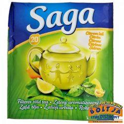 Saga Citrom ízű Zöldtea 32,5g