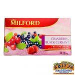 Milford Vörösáfonya-Feketeribizli Ízű Gyümölcstea 50g